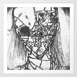 """RED DEAD!"" Black & White Edition Art Print"