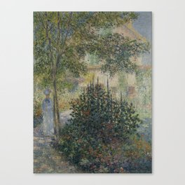 Camille Monet in the Garden at Argenteuil Canvas Print