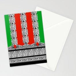 Holiday Stripe Frett Stationery Cards