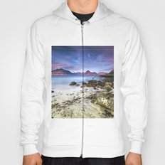 Beach Scene - Mountains, Water, Waves, Rocks - Isle of Skye, UK Hoody