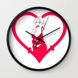 THE HEART SHE HOLLERS Wall Clock