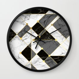 Black and white marble Wall Clock