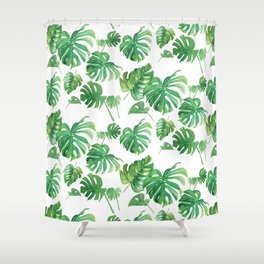 Topical Leaves Shower Curtain