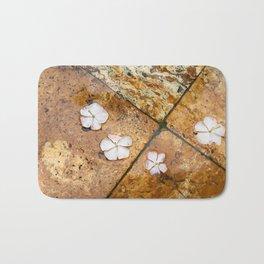 Flowers on Water Bath Mat
