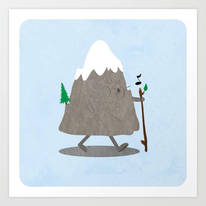 Lil' Hiker Art Print
