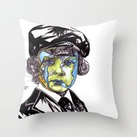 u2 Throw Pillows featuring Decomposition IV - Lucifer by Joseph Walrave