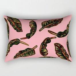 BANANA LEAVES (CORAL) Rectangular Pillow