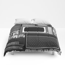 Everything Retro (Black and White) Comforters