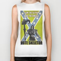 skeletor Biker Tanks featuring Vote Skeletor by Itomi Bhaa