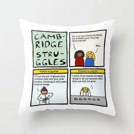 Cambridge stuggles: Science Throw Pillow