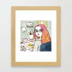Hard at work Framed Art Print
