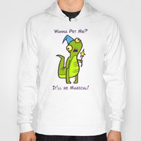 wizard Hoodies featuring Wizard Lizard by Artistic Dyslexia