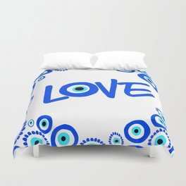 LOVE Mediterranean Eyes Duvet Cover