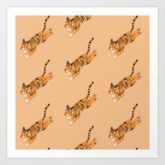 Tiger Pattern (small) Art Print
