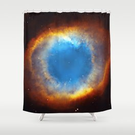 The Helix Nebula or NGC 7293 in the constellation Aquarius. Shower Curtain