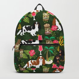 Cavalier King Charles Spaniel tiki hawaiian island tropical dog breed pattern dogs Backpack