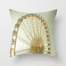 Golden Wheel Throw Pillow