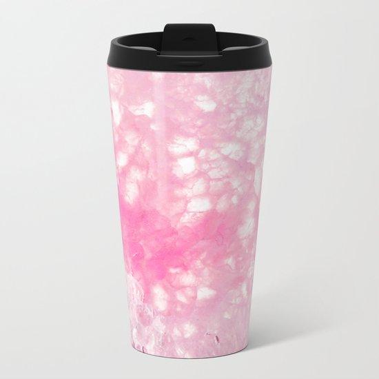 Pink Ice Metal Travel Mug