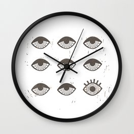 Eye Opener Wall Clock