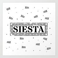 SIESTA nº 2 Art Print