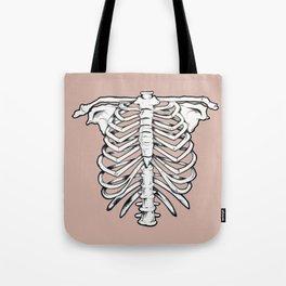 rib illustration tattoo design Tote Bag