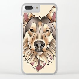 Wise old wolf Clear iPhone Case