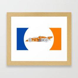 McLaren M16C - Trailing Liveries Framed Art Print