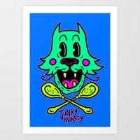 Junky Cat Art Print