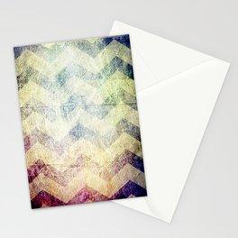 grunge chevron stripes purple blue Stationery Cards