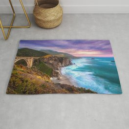 Big Sur Bixby Bridge Adventure Rug