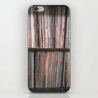 records iPhone & iPod Skins featuring Records by Loudesthowl
