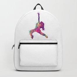 Hip-Hop Girl Art Rap Music Gift Colorful Purple Watercolor Art Dance Art Hip-Hop Dancer Backpack