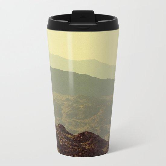 Palm Springs Mountains I Metal Travel Mug