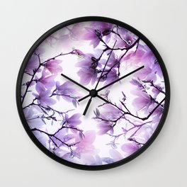 Magnolia purple 074 Wall Clock