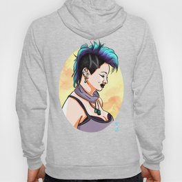 Sexy Punk Rock Pin Up Girl wih Piercings Hoody