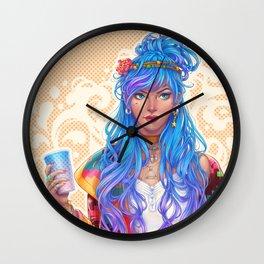 Cool girl Wall Clock