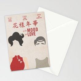 In the mood for love, minimal movie poster, Wong Kar-wai, Tony Leung, Maggie Cheung, Hong Kong film Stationery Cards