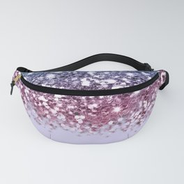 Sparkly Unicorn Blue Purple Pink Glitter Ombre Fanny Pack