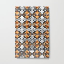 Abstract Leaves Pattern Metal Print