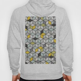 Colorful Concrete Cubes - Yellow, Blue, Grey Hoody