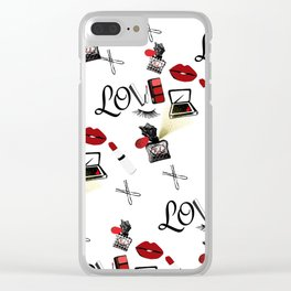Love Makeup Clear iPhone Case