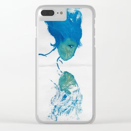 Blue Reflection Clear iPhone Case