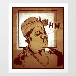 Hm... Art Print