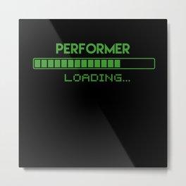 Performer Loading Metal Print