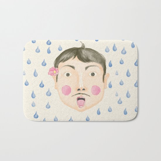 Caught in the Rain Bath Mat