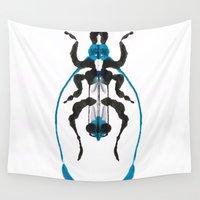 insect Wall Tapestries featuring Inkblot Insect by Lil'h