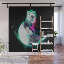 Painted Ferret Wall Mural