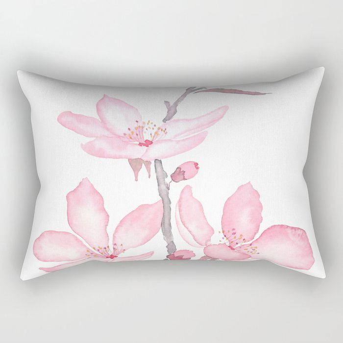 pink cherry blossom macro 2018 Rectangular Pillow