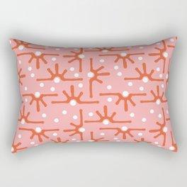 Modern abstract pink orange white geometrical tribal Rectangular Pillow