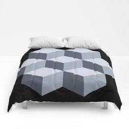 'Iso Cubes - Grey' Comforters